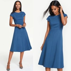 ANN TAYLOR FIT AND FLATE SEAMED DRESS